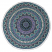 Green & Purple Elephant Print Round Blanket