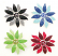 Enamel Rhinestone Flower Brooch