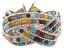 Braided Mosaic Bead Cuff Bracelet