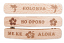 Set of 3 Hawaiian Word Wood Barrette