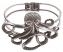 Silver Metal Octopus Hinge Cuff