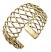 Gold Metal Open Braided Cuff Bracelet