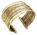 Gold Metal Thin Hammered Bunch Cuff Bracelet
