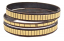 Set of 3 Dark Metal Gold Metal Mirror Tile Bangles