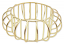 Gold Metal Cage Bangle
