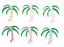 240 pcs Enamel/Rhinestone Palm Tree Tack Pin