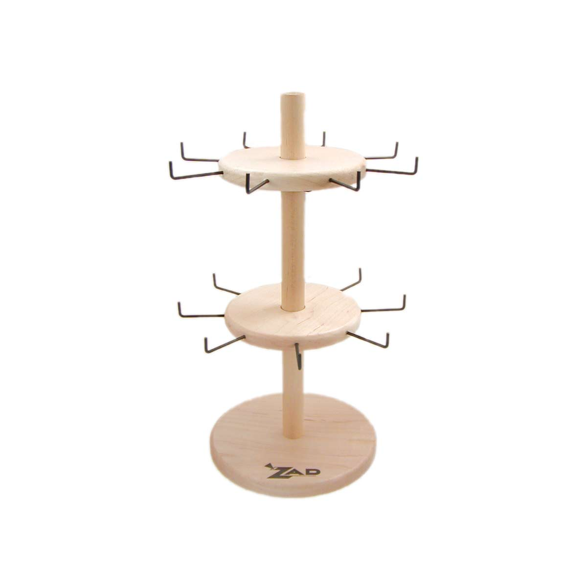 Two Tier Spinning Wood Jewelry Display
