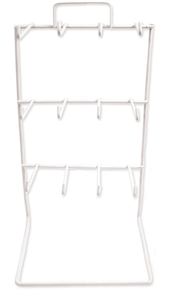 White Metal Wire 12 Peg Display