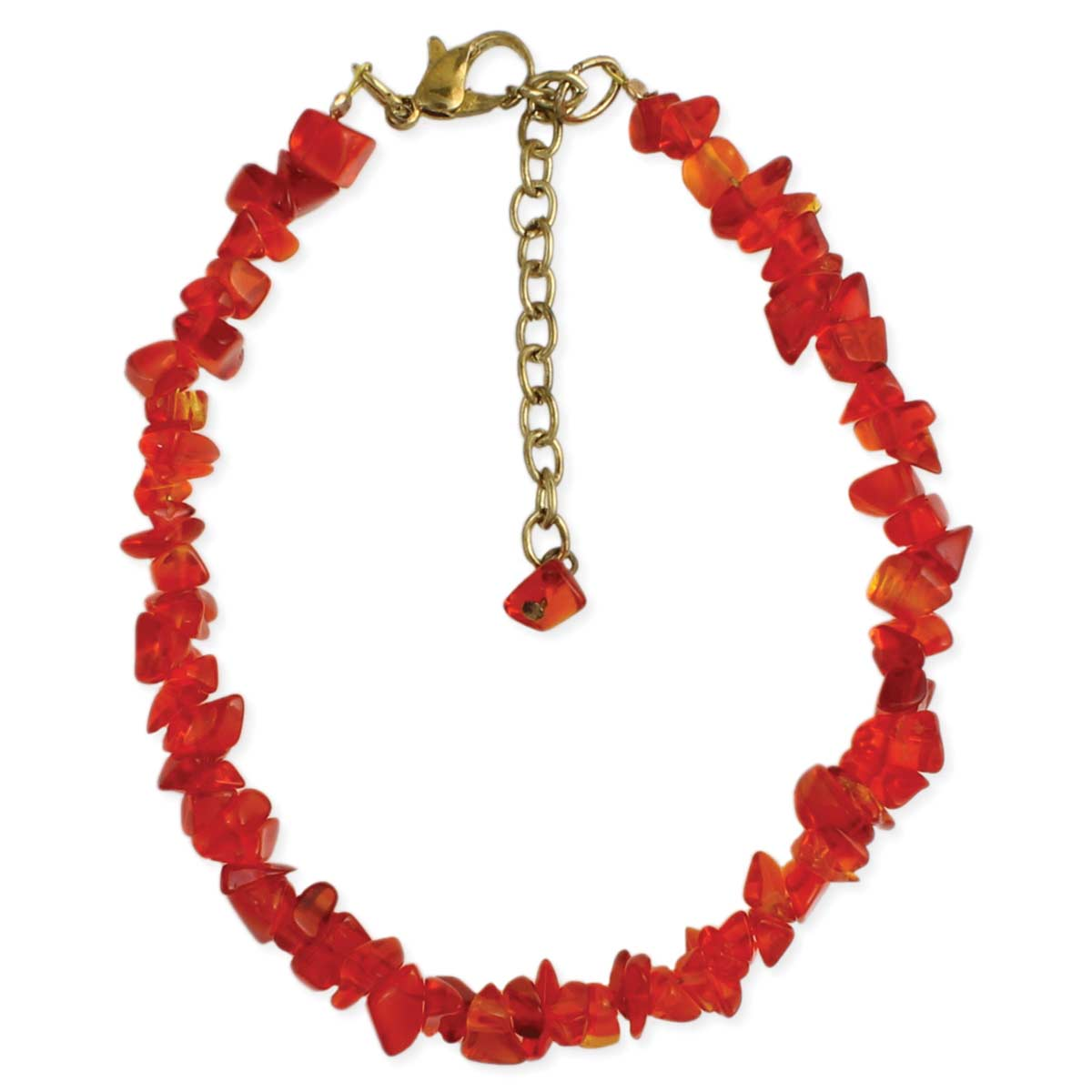 PAINT the Town Red Stone Chips Anklet
