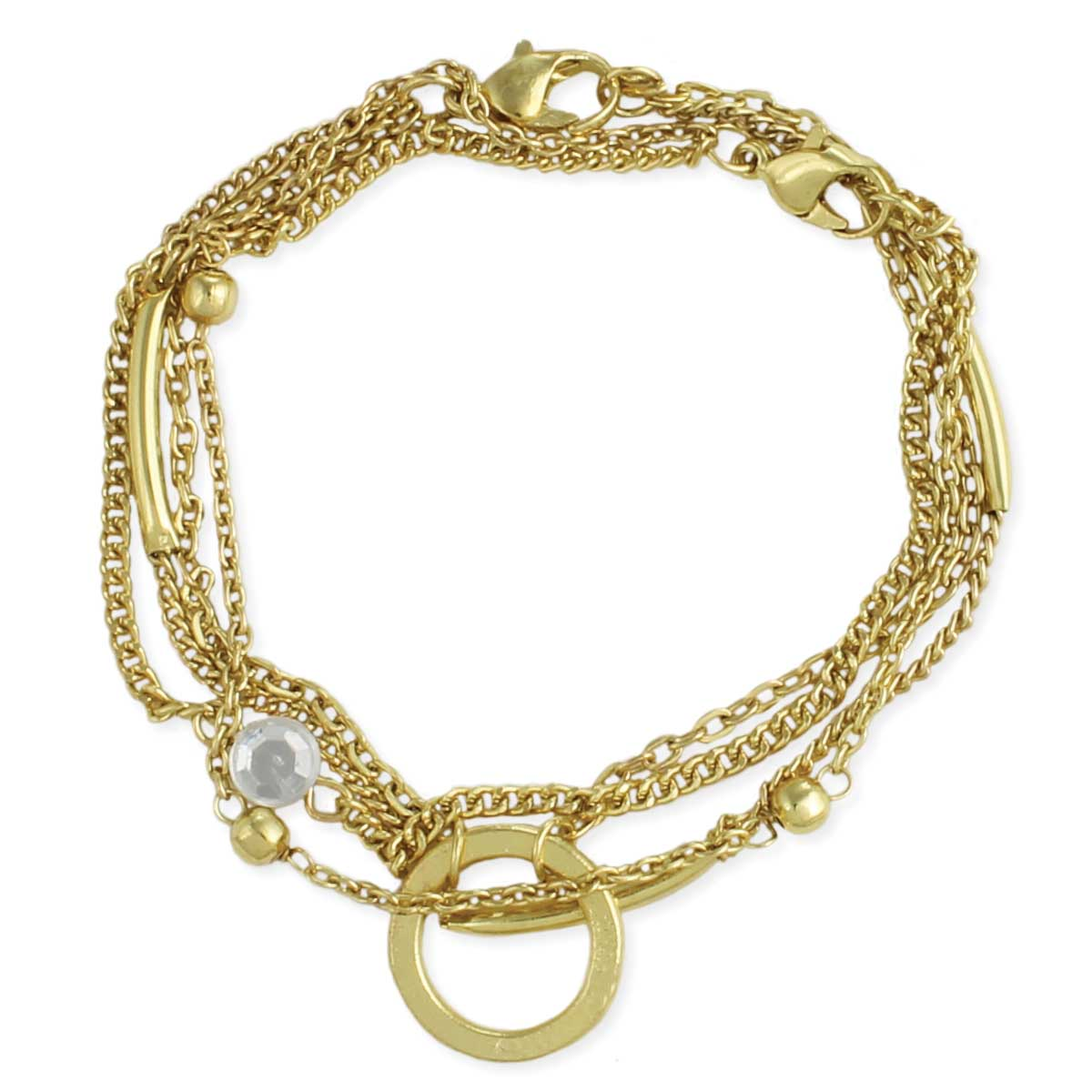 Chain Gang Gold   Crystal Bracelet Set. View Detailed Images 1 7e5f9c2fa8b8