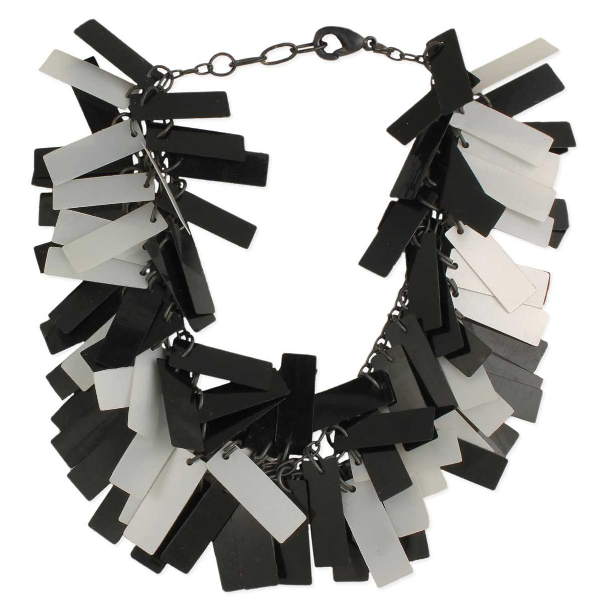 Black & White Sequin Bar Bracelet