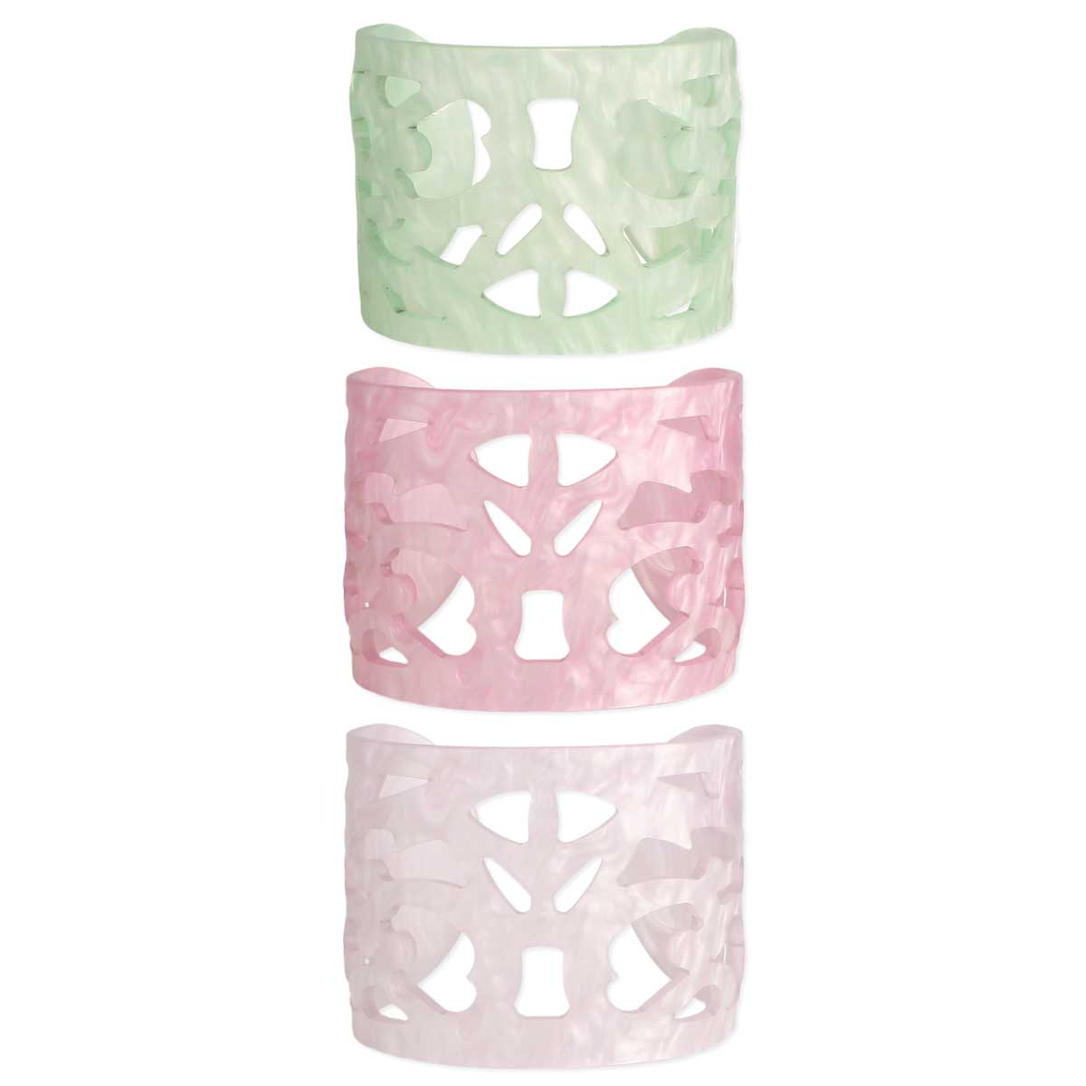 Pastel Resin Cutout Cuff Bracelet