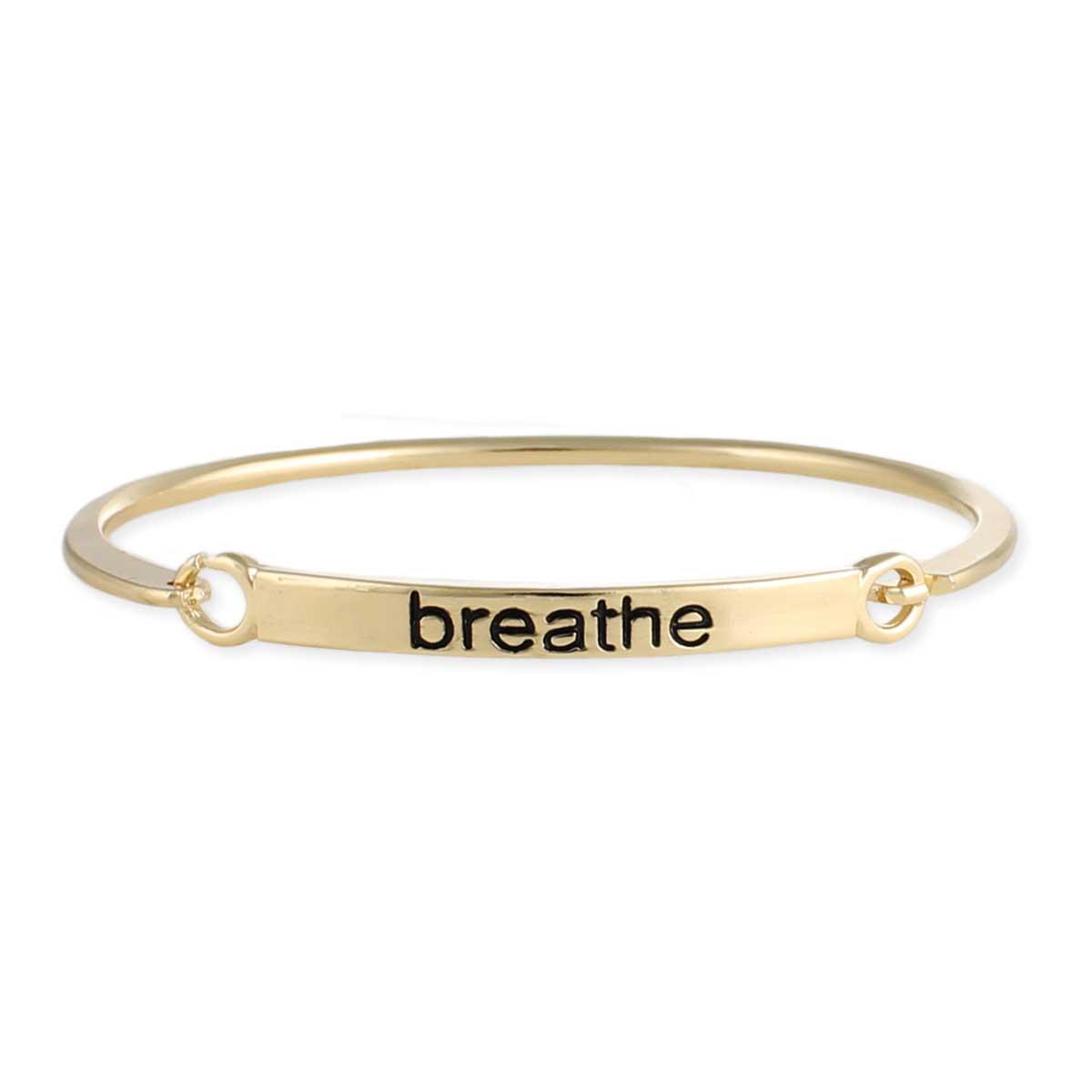 Gold Breathe Bangle Bracelet