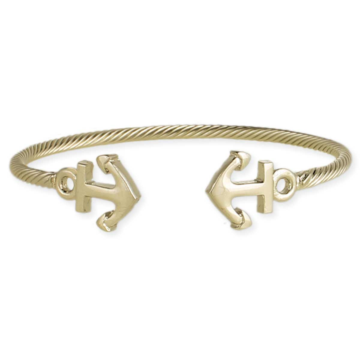 Gold Anchor Cuff Bracelet