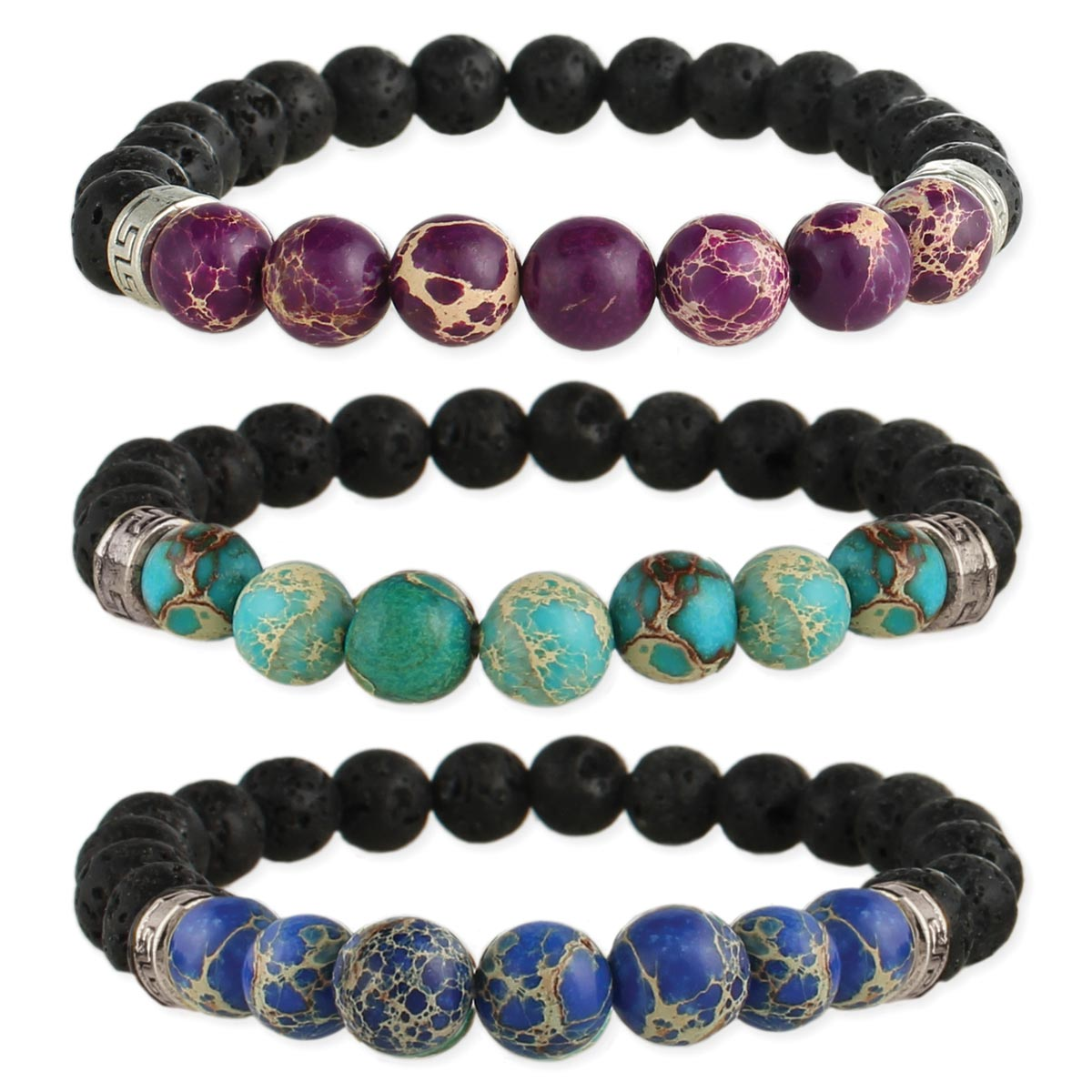 Stone Lava Bead Diffuser Stretch Bracelet