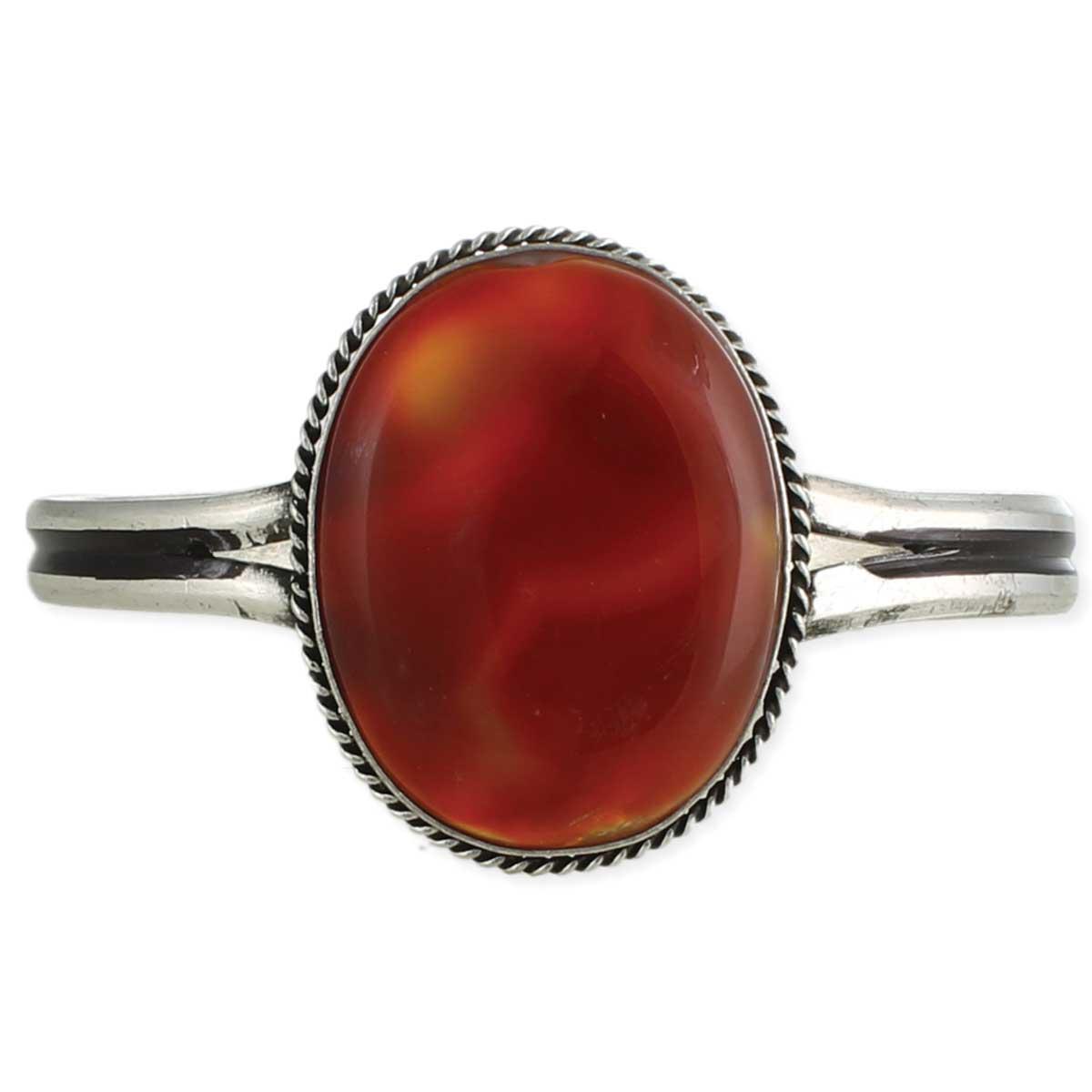 Orange Agate Cuff Bracelet