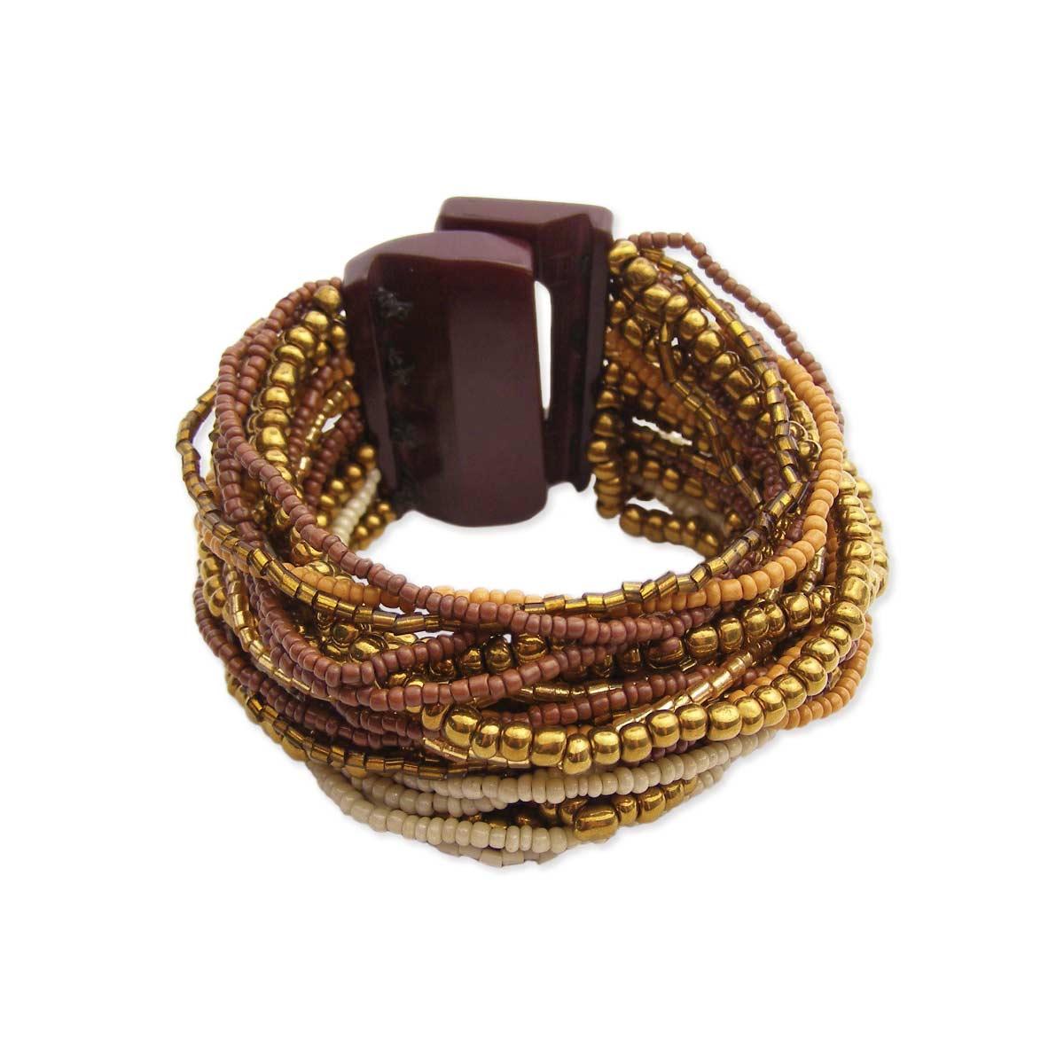 Beaded Large Clasp Bracelet
