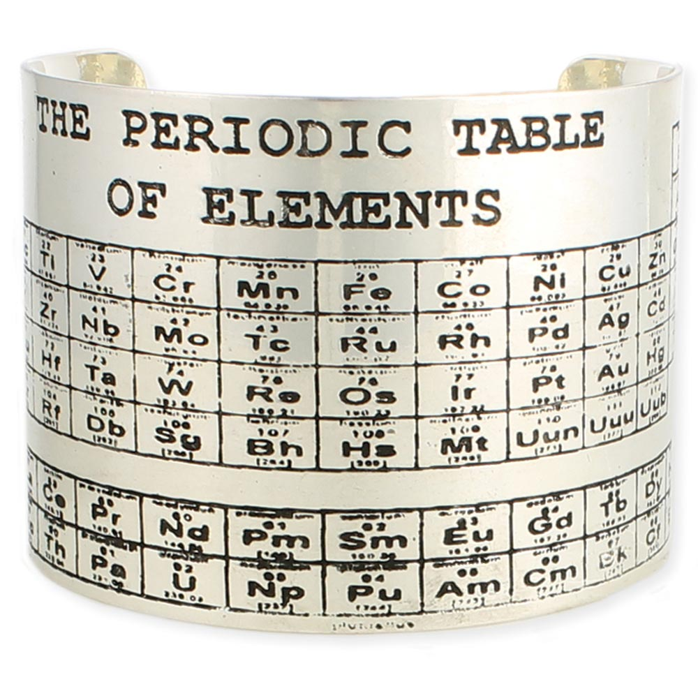 Wholesale silver etched periodic table cuff bracelets zad fashion silver etched periodic table cuff bracelets urtaz