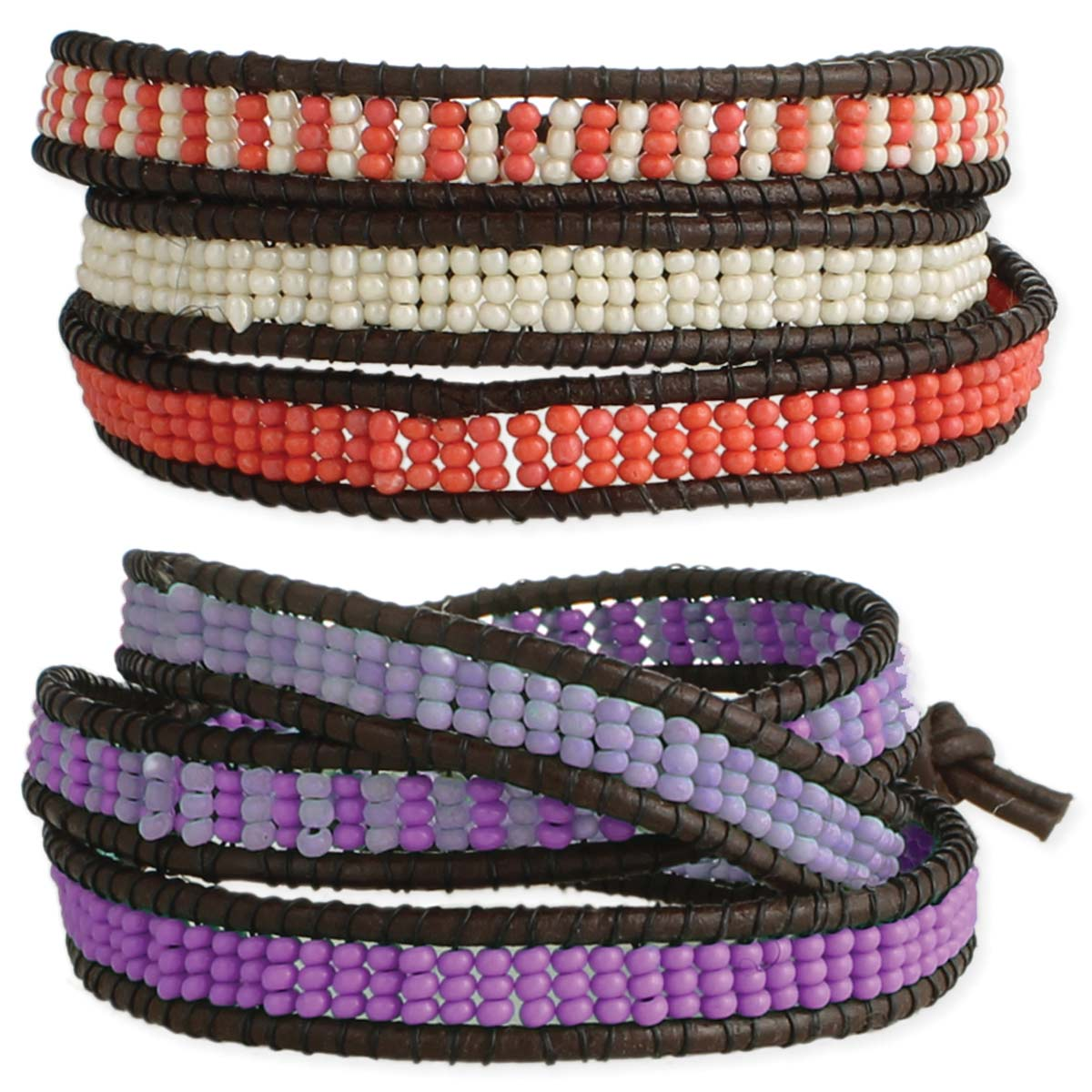 Seed bead Wrap Pull Bracelet