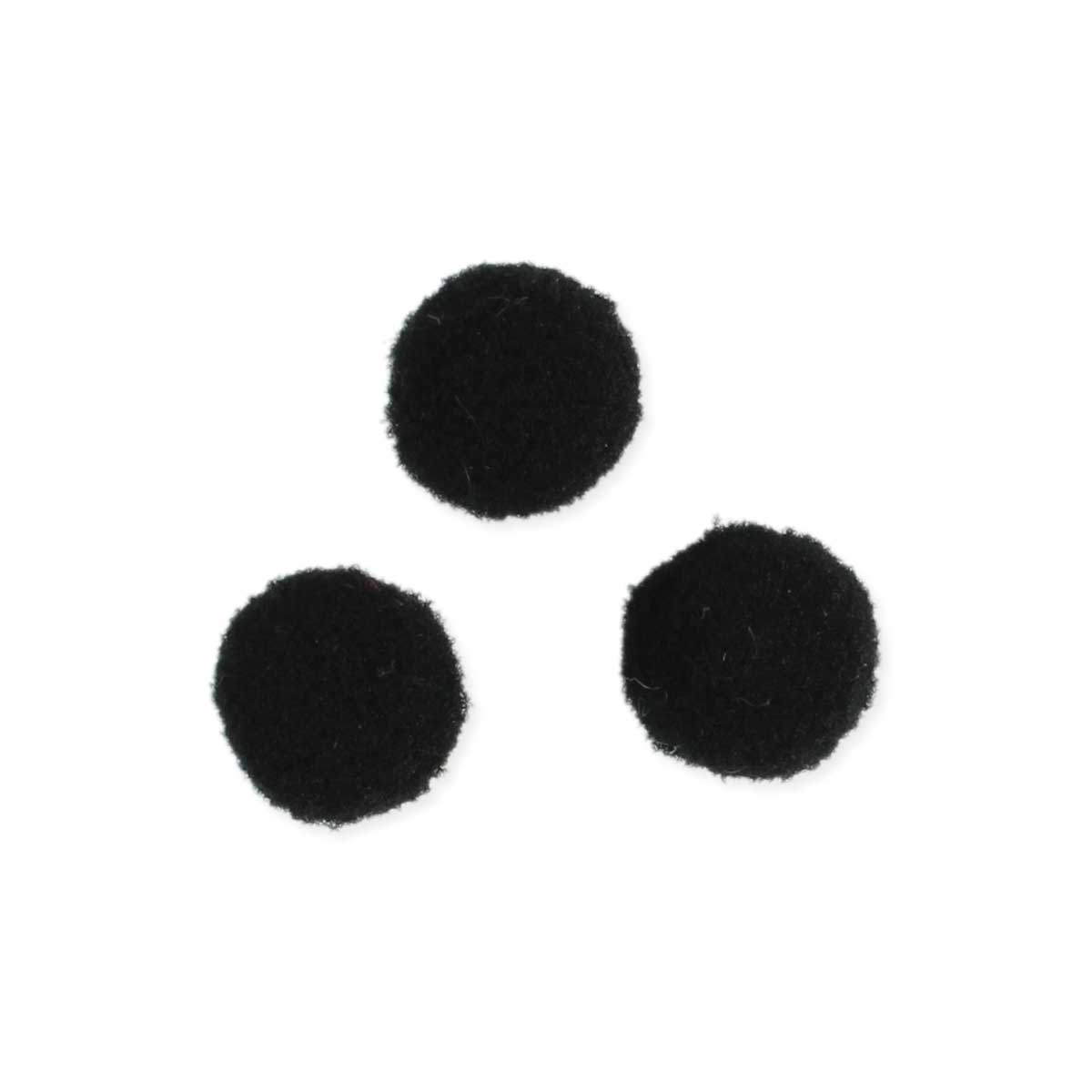 Set of 3 Black Felt Ball Diffuser Inserts