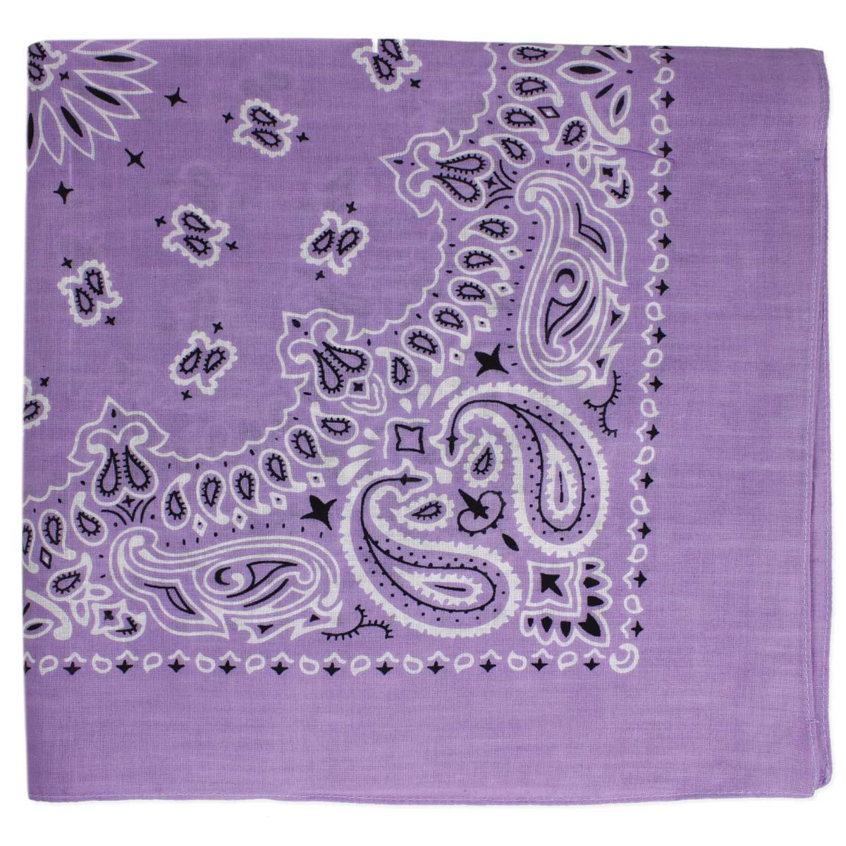 Lavender Paisley Print Bandana