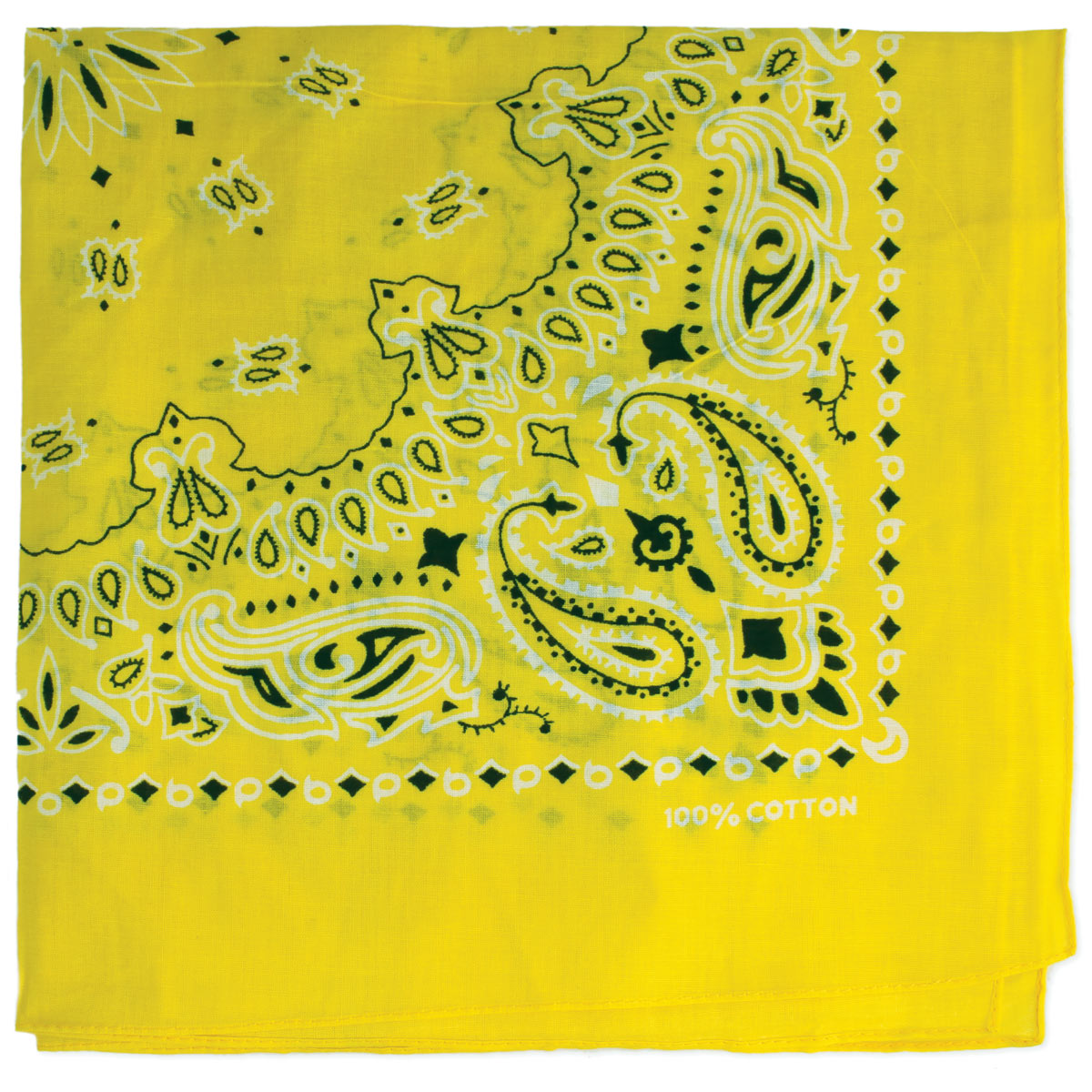 Yellow Paisley Bandana