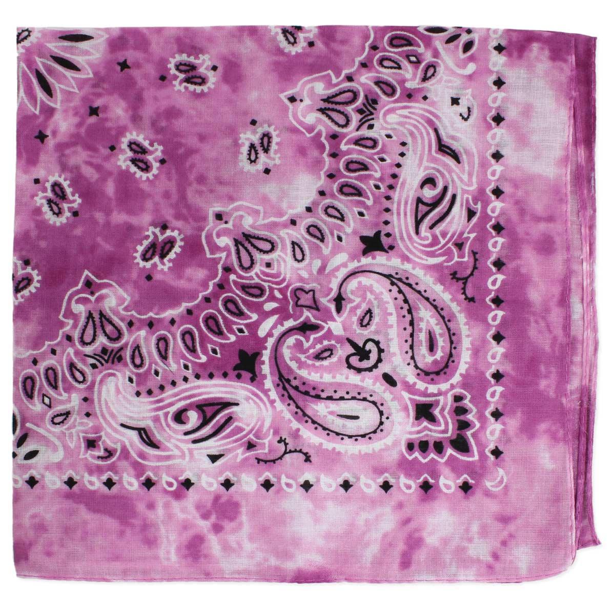 Tie Dye Pink Vintage Print Bandana