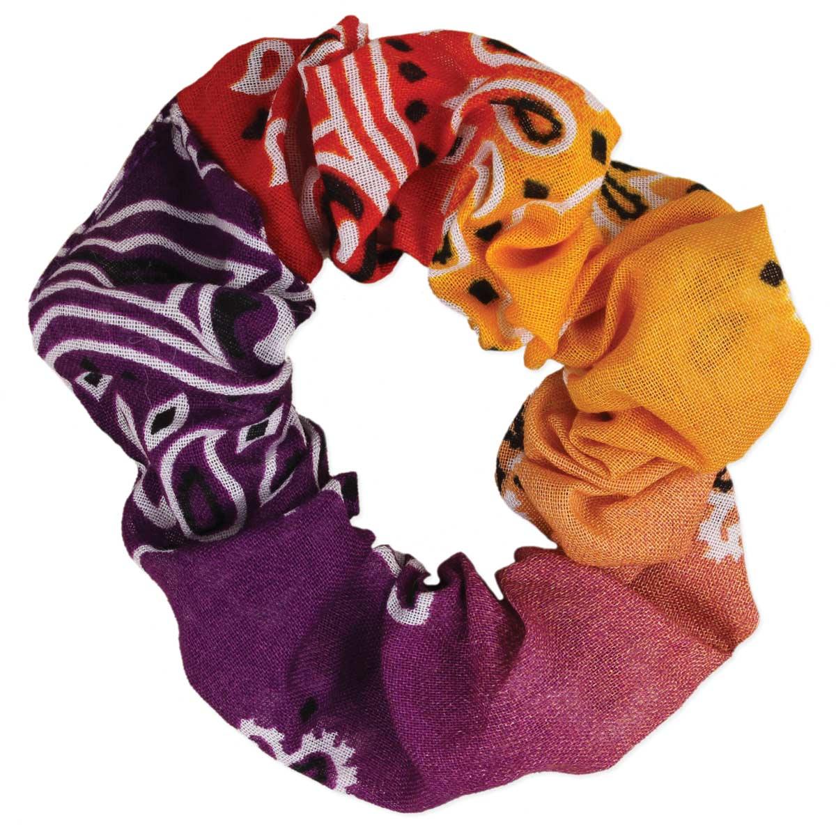 Ombre Tie Dye Bandana Scrunchie