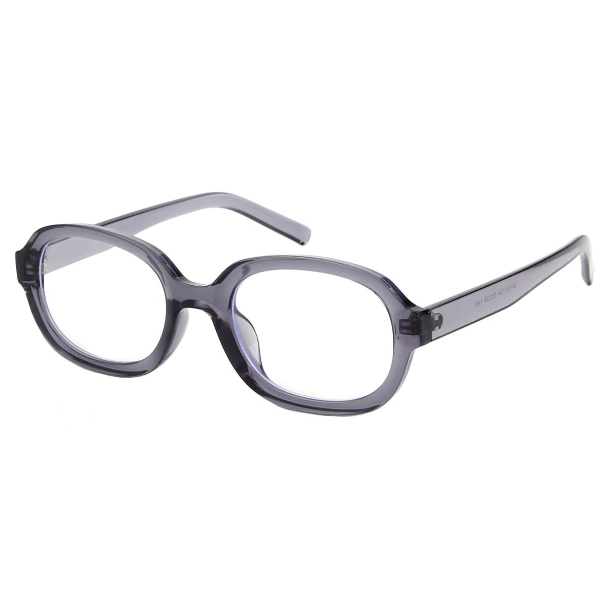 Grey Oval Frame Blue Light Blocking Glasses