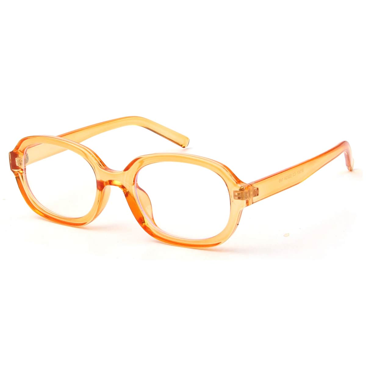 Orange Oval Blue Light Blocking Glasses