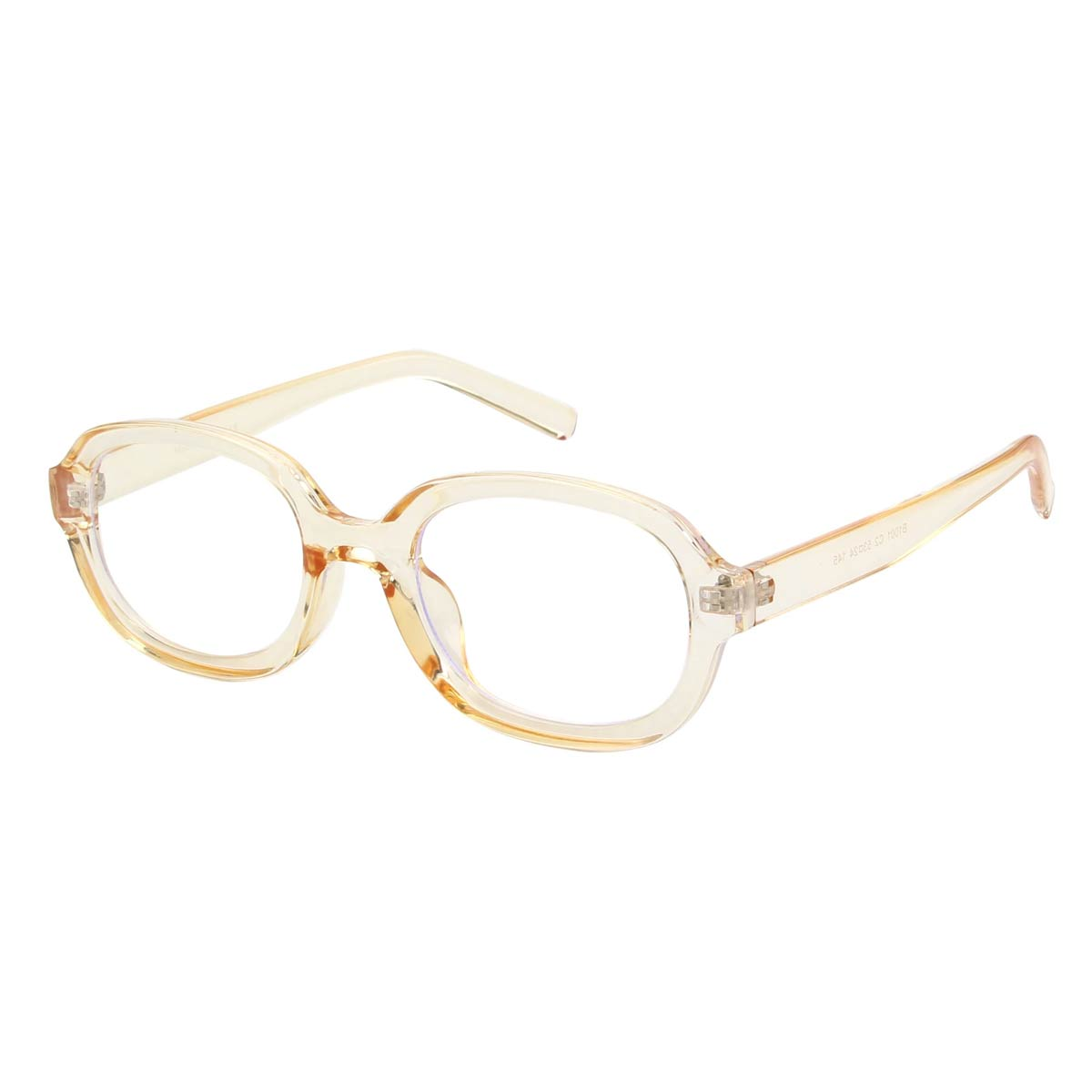 Yellow Oval Blue Lilght Blocking Glasses