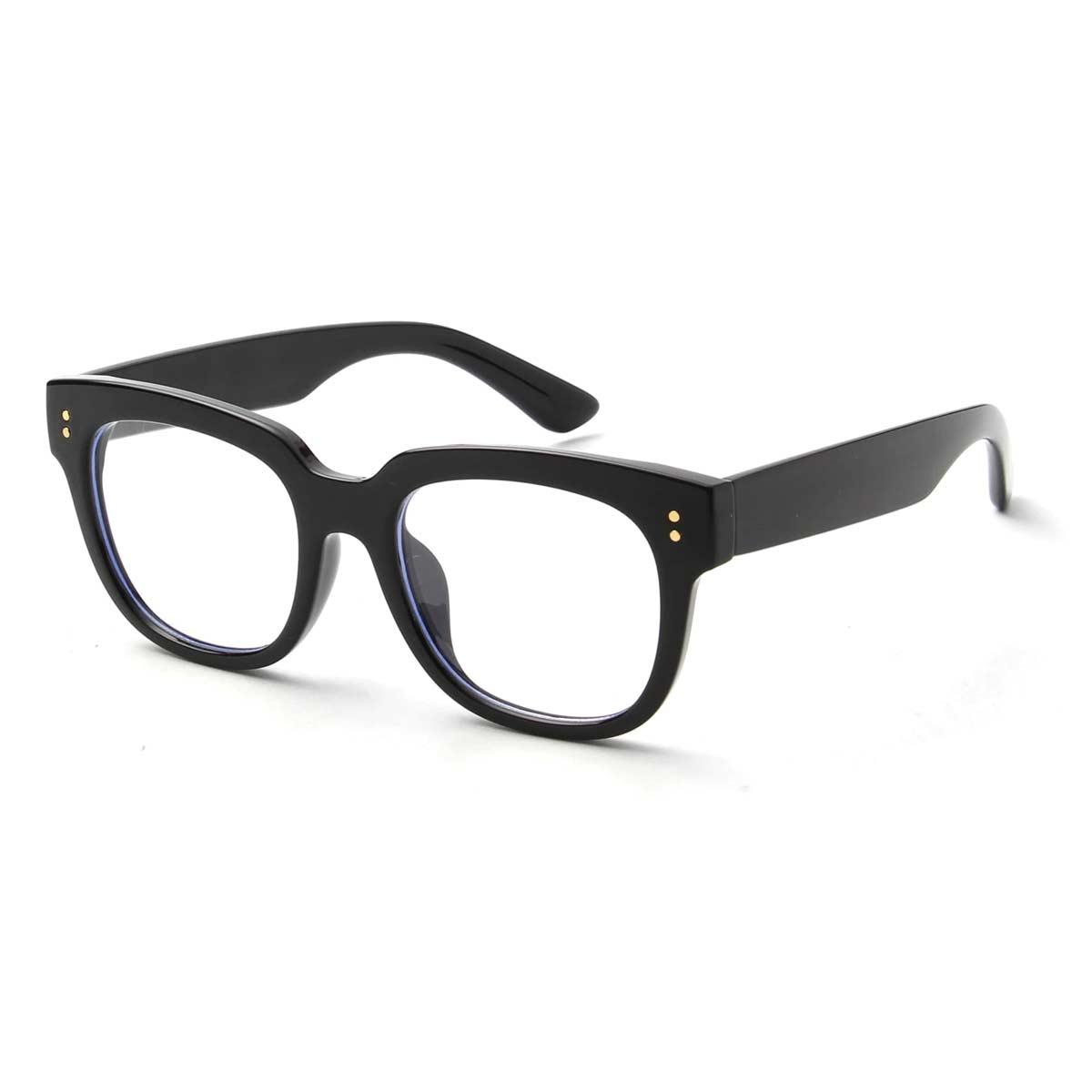 Thick Black Frame Blue Light Blocker Eyeglasses