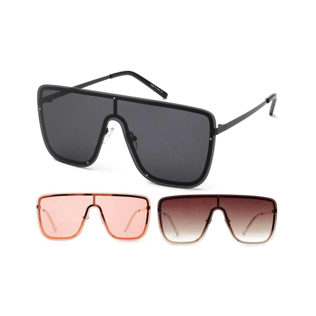 Flat Shield Sunglasses in 3 colors