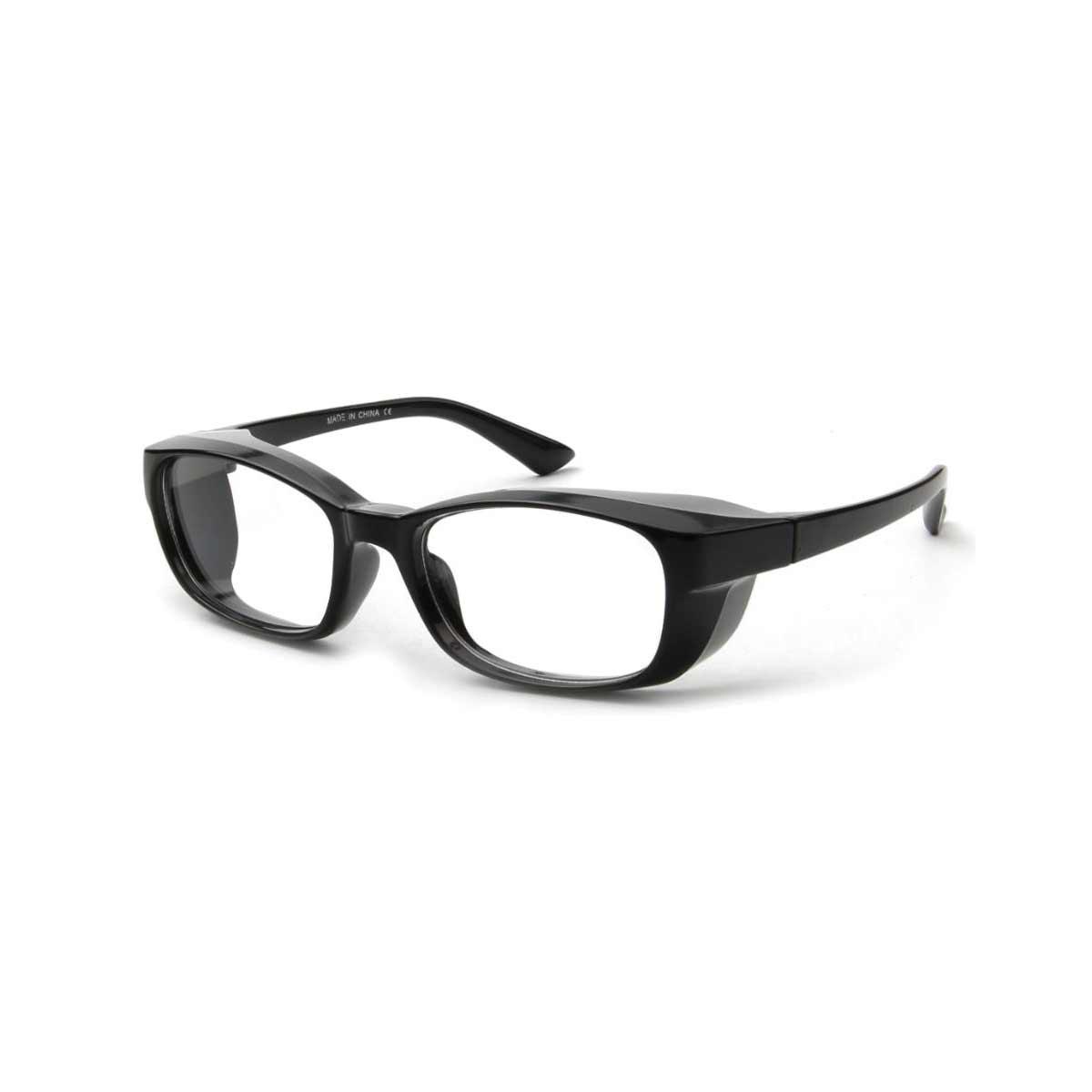 Black side shiled blue light blocking glasses