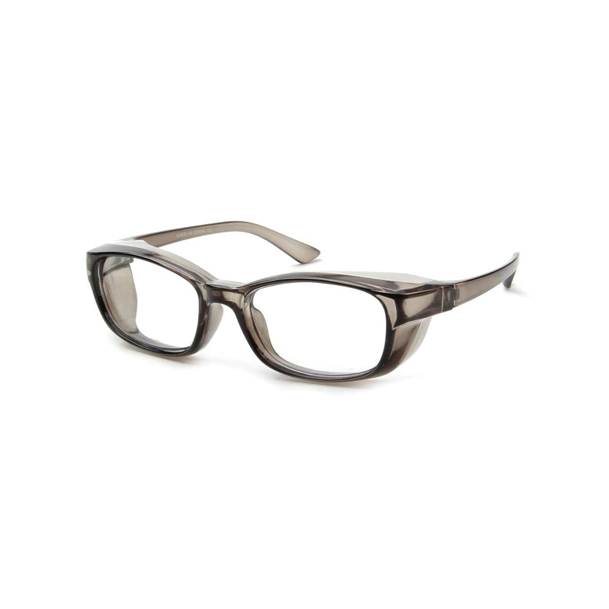 Grey Frame Side Shield Blue Light Blocker Glasses