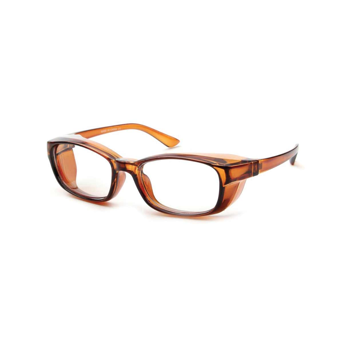 Tortoise Shell Frame Side Shield Blue Light Blocking Glasses