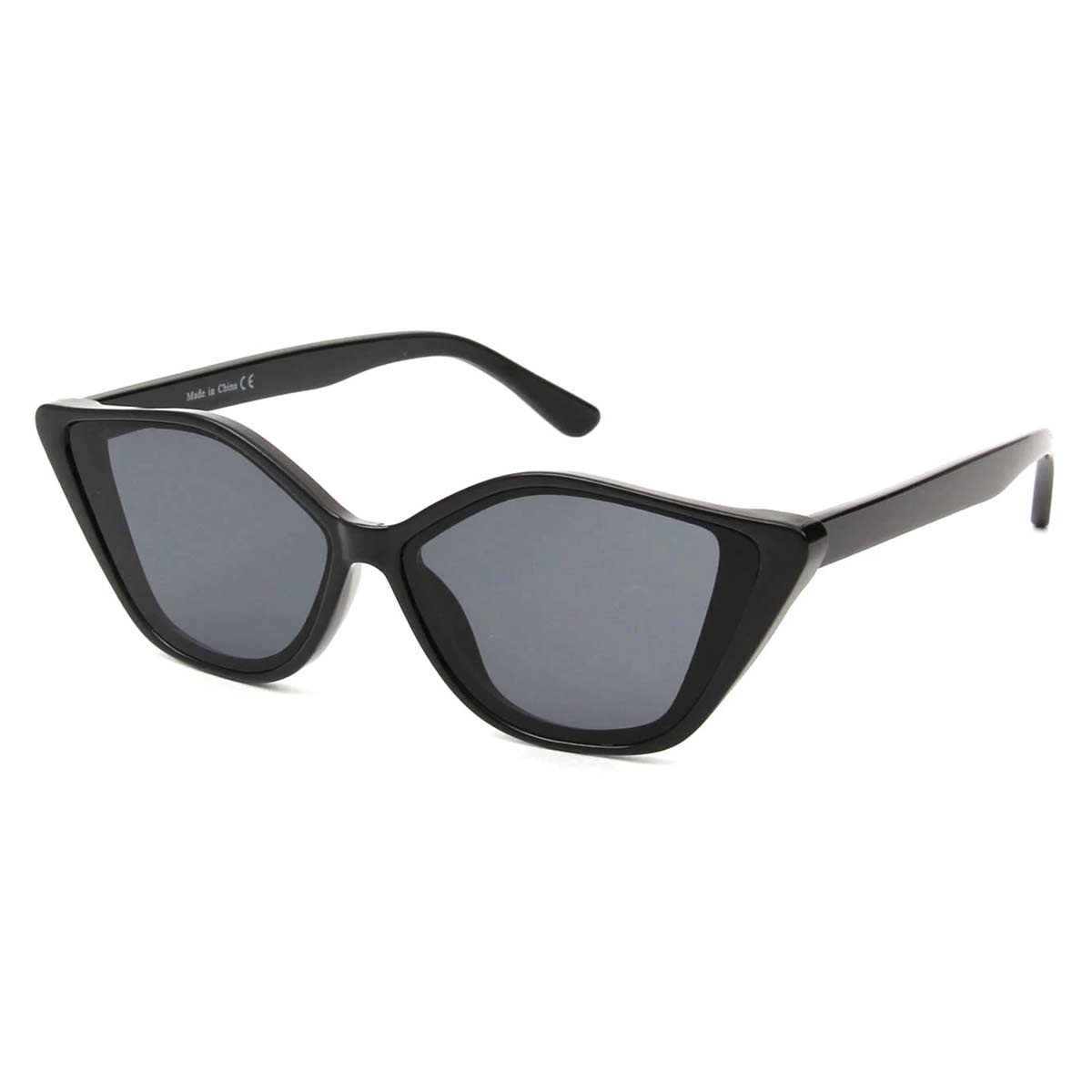 Black Frame Cats Eye Sunglasses