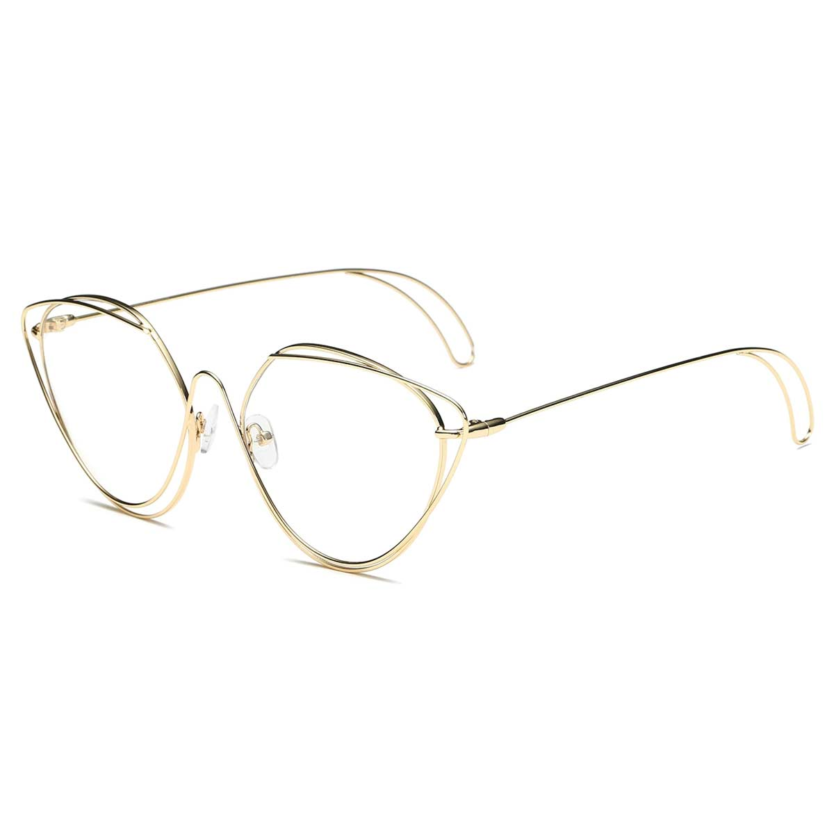 Modern Gold Wire Frame Blue Light Blocker Glasses
