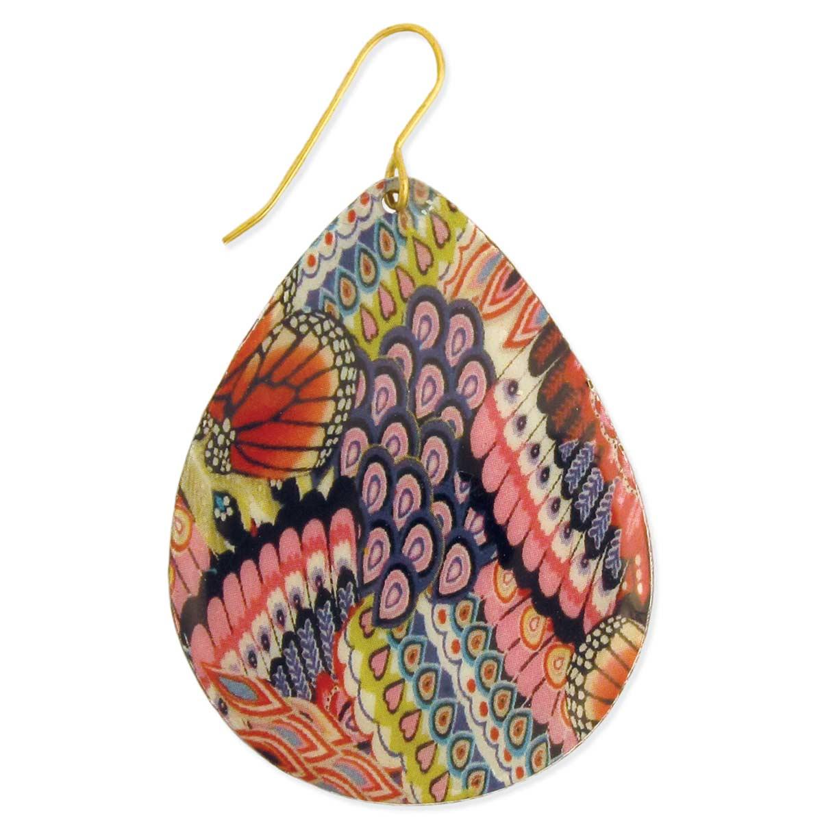Gypsy Print Teardrop Earrings