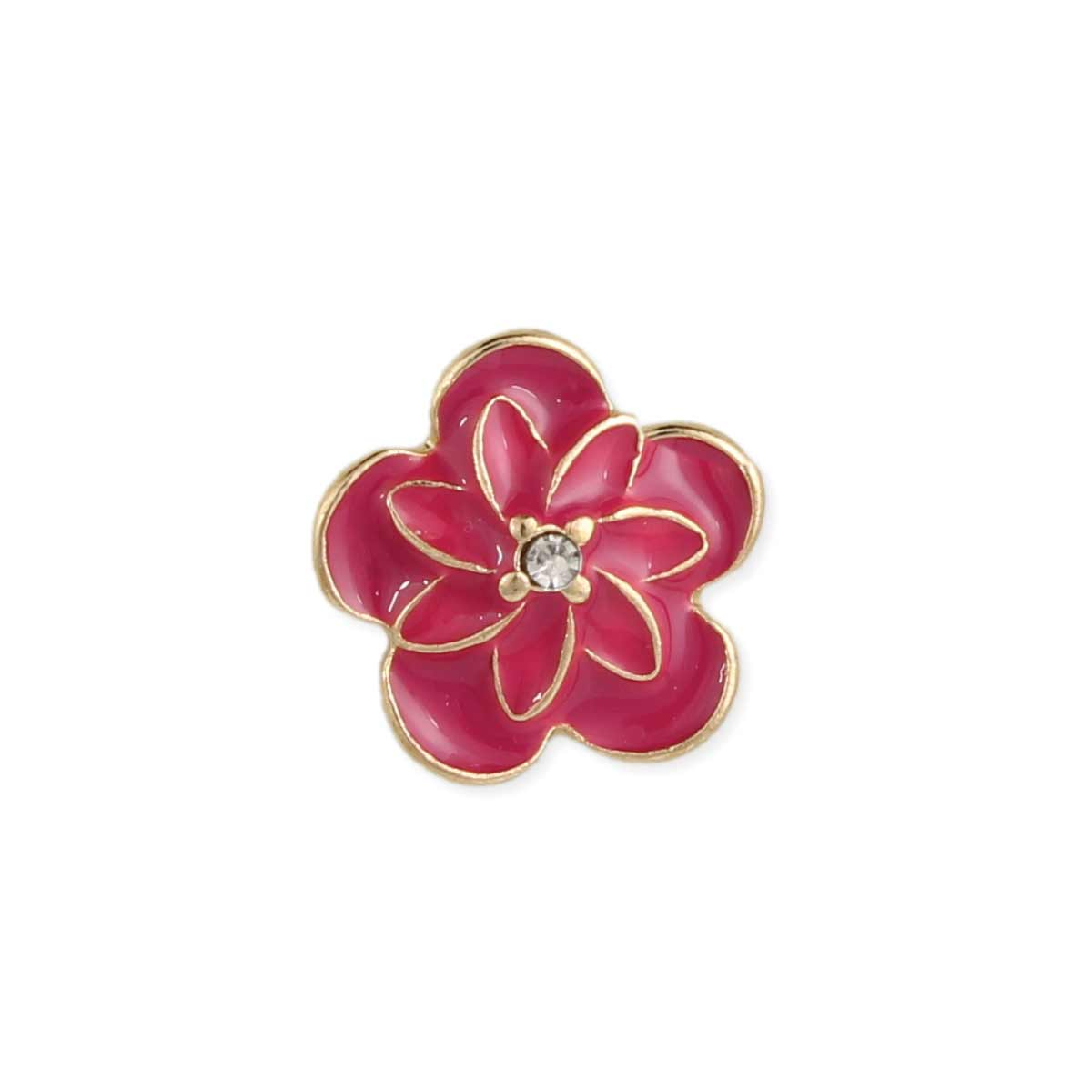 Pink Hibiscus Flower Post Earring