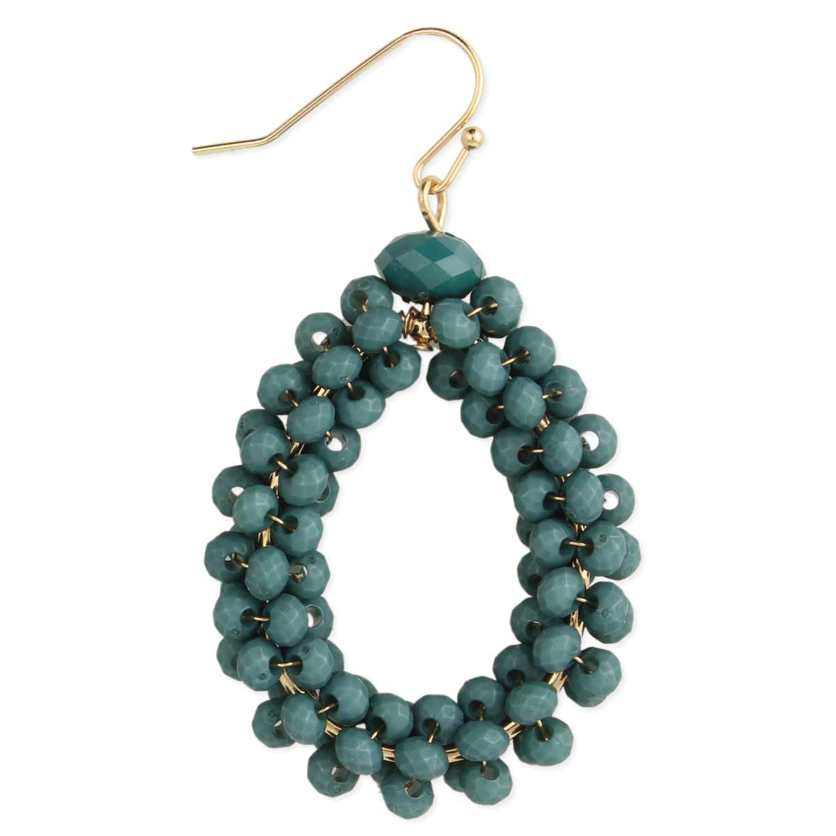 Turquoise Facet Bead Teardrop Earring