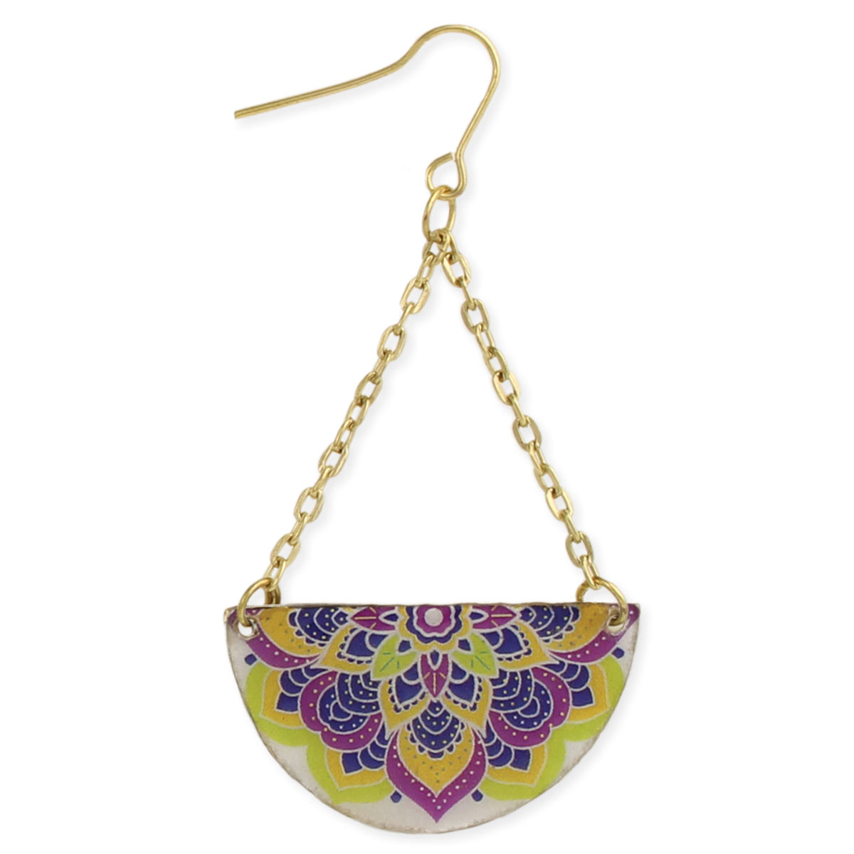 Mandala Print Tile Earrings