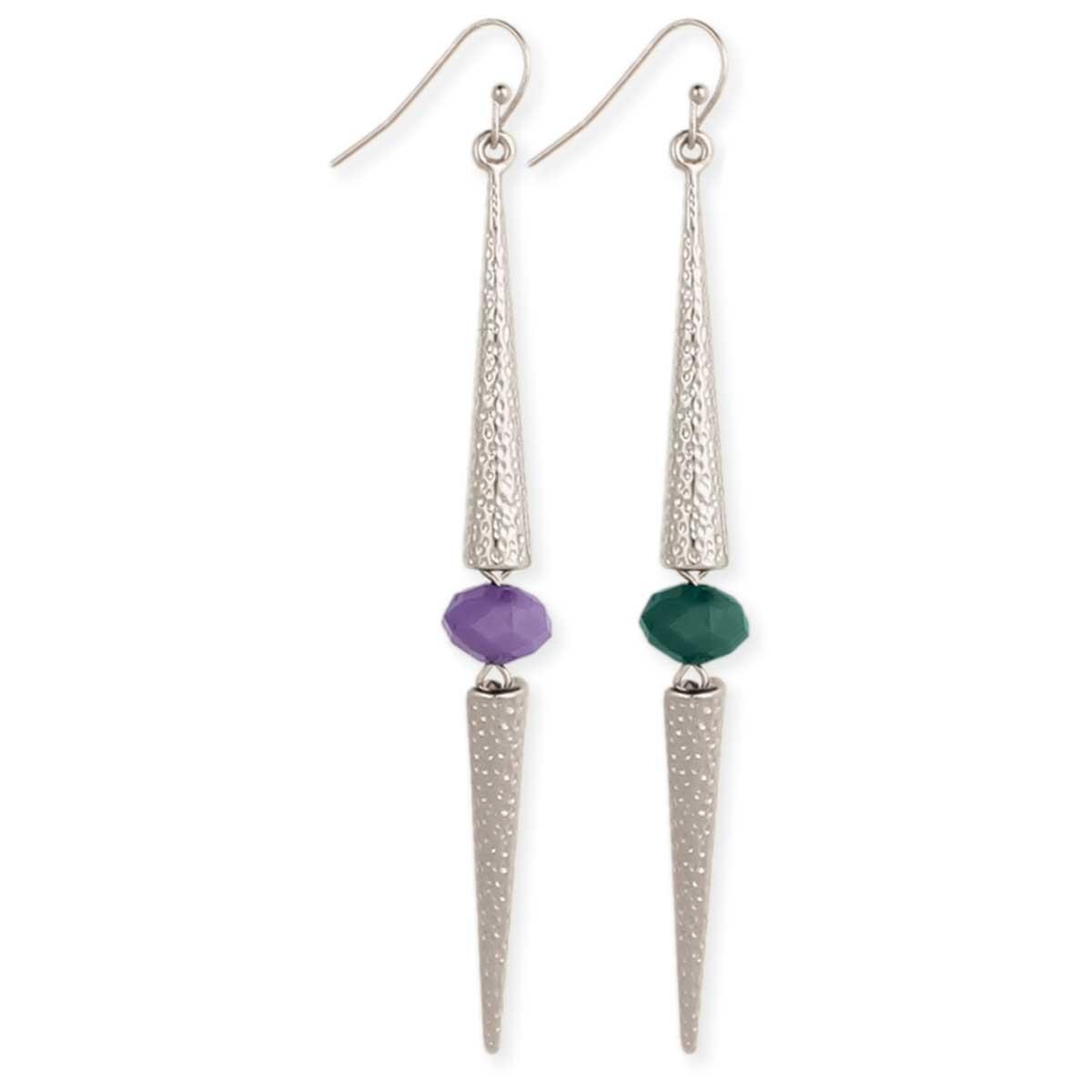 Silver Bar & Bead Silver Earring