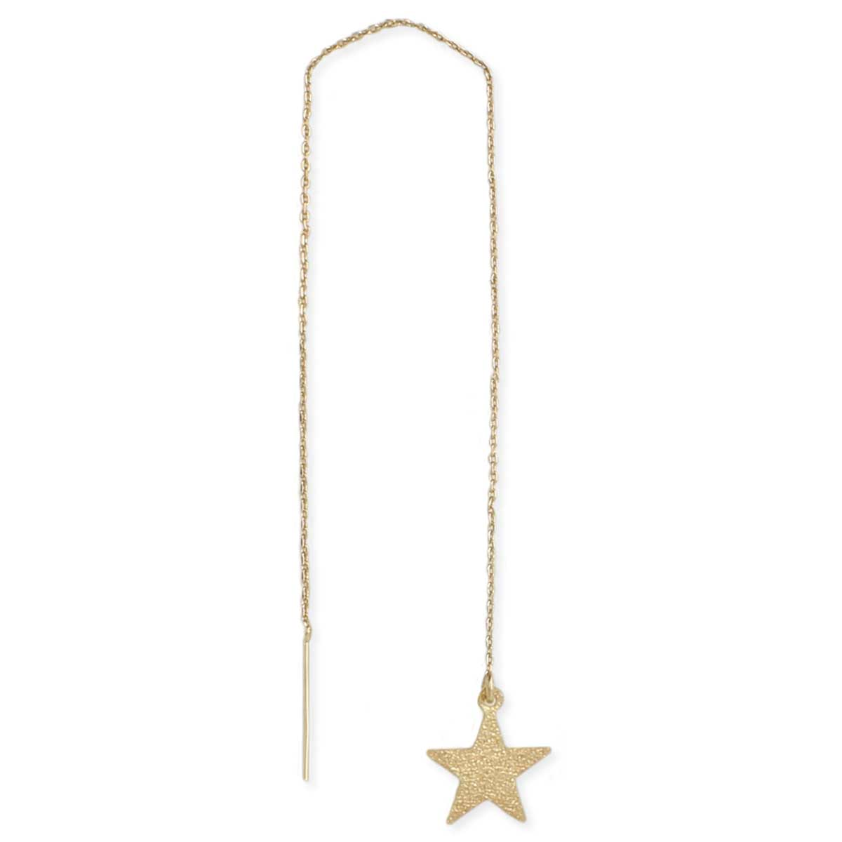 Gold Star Threader Earring
