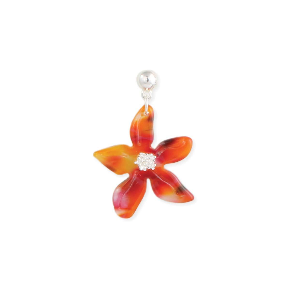 Resin Flower Post Earring