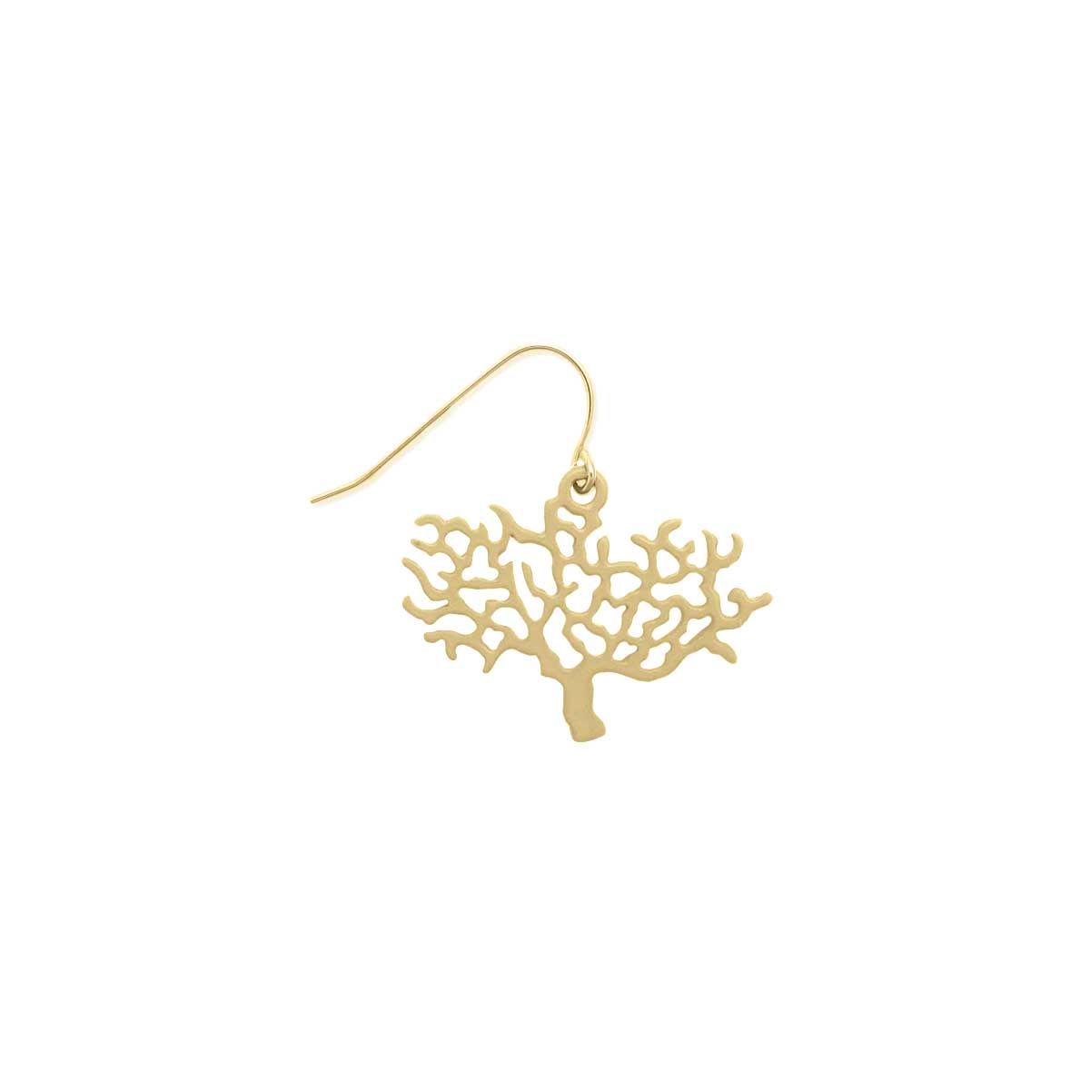 Gold Cutout Tree Dangle Earring