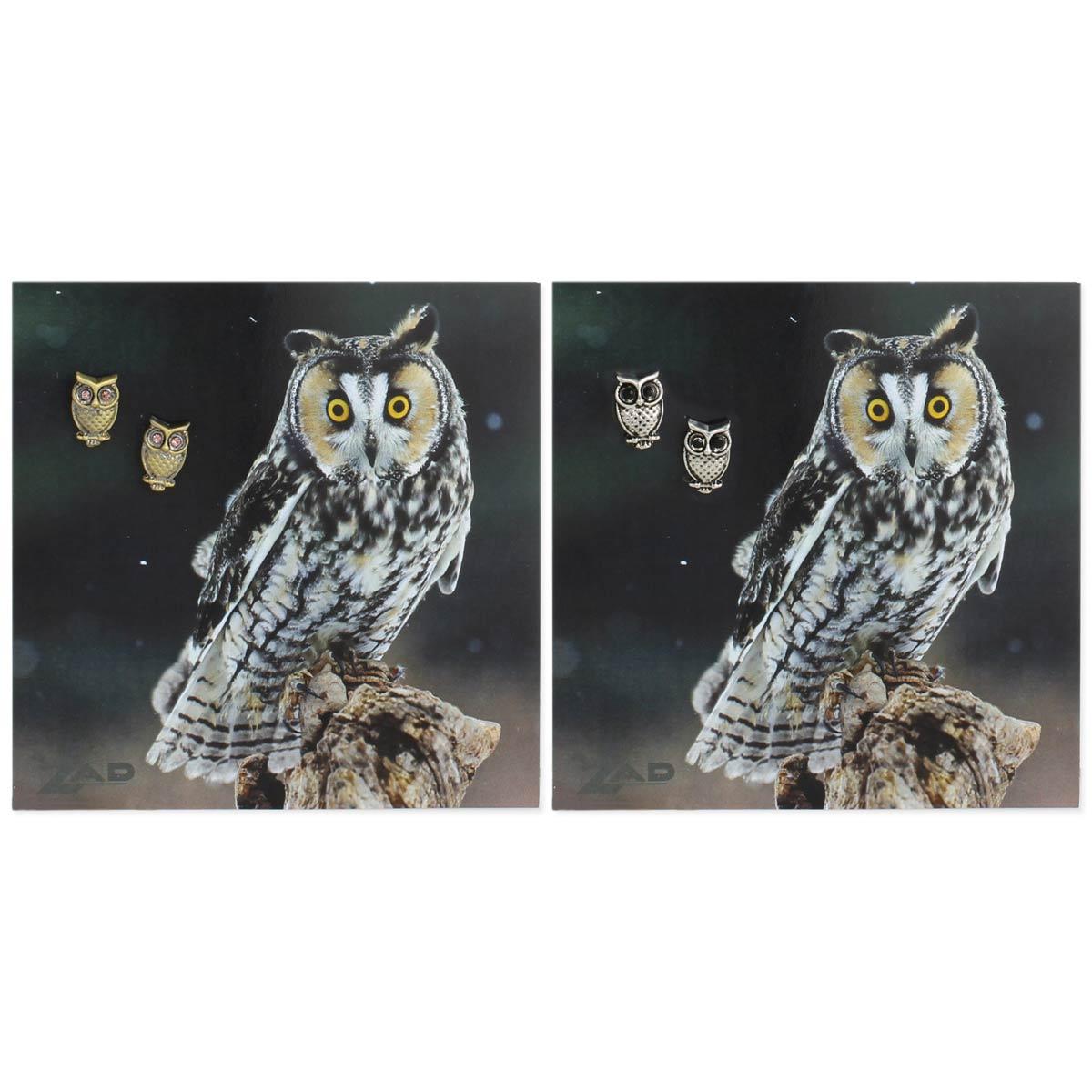 Carded Owl Post Earrings