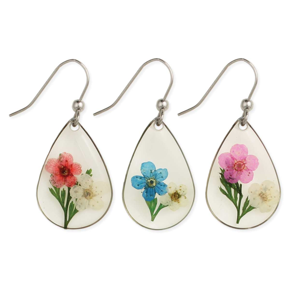 Secret Garden Pressed Flower Earrings