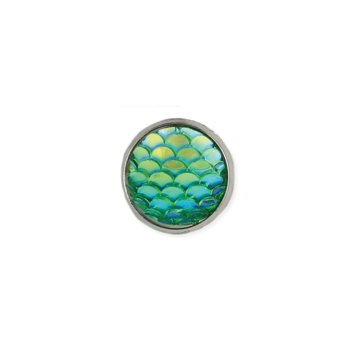 Green Scales Post Earring