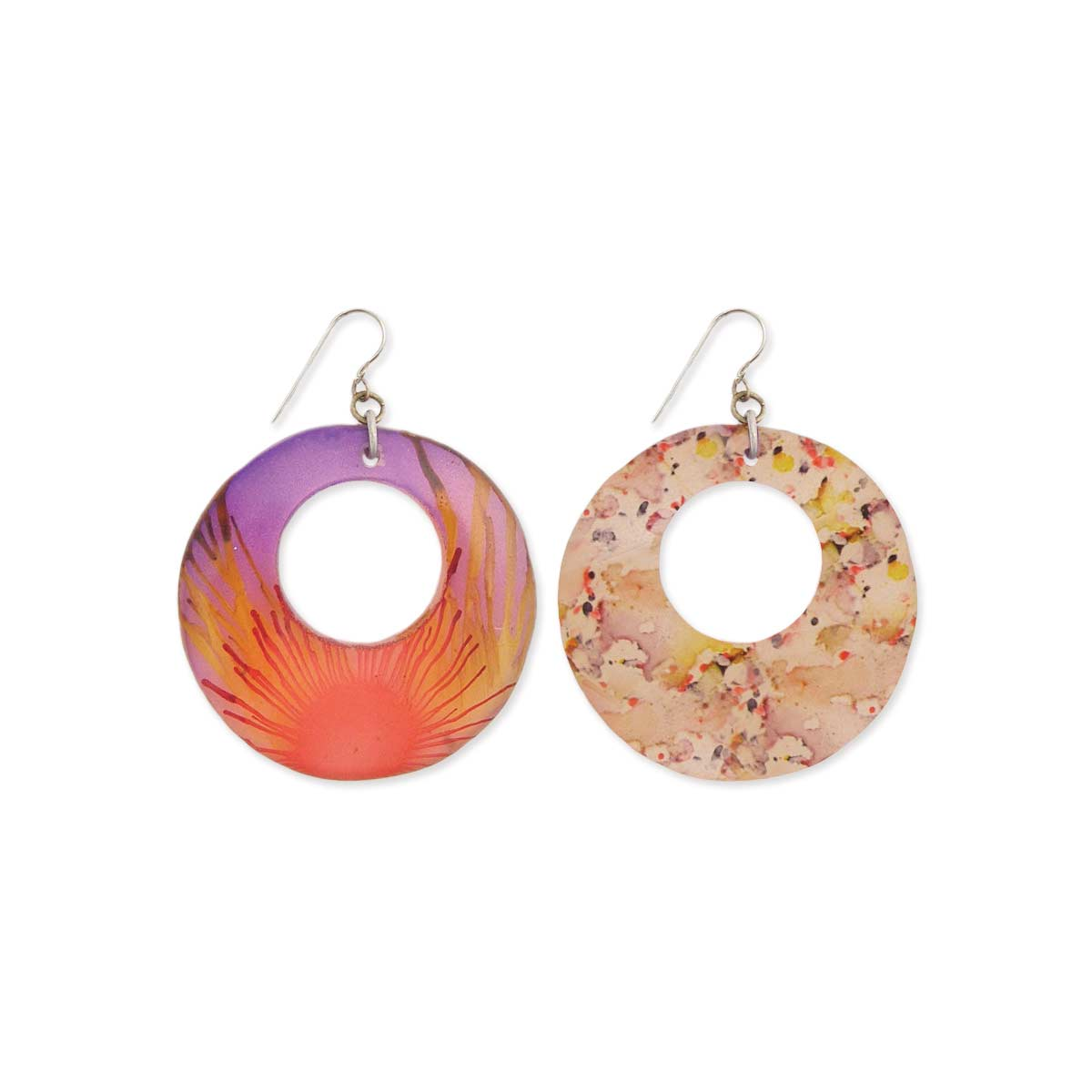 Watercolor Resin Earrings